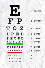 Eye Chart - Eyeglasses Pensacola FL - Fifty Dollar Eye Guy 5328 N Davis Hwy, Pensacola FL 32503