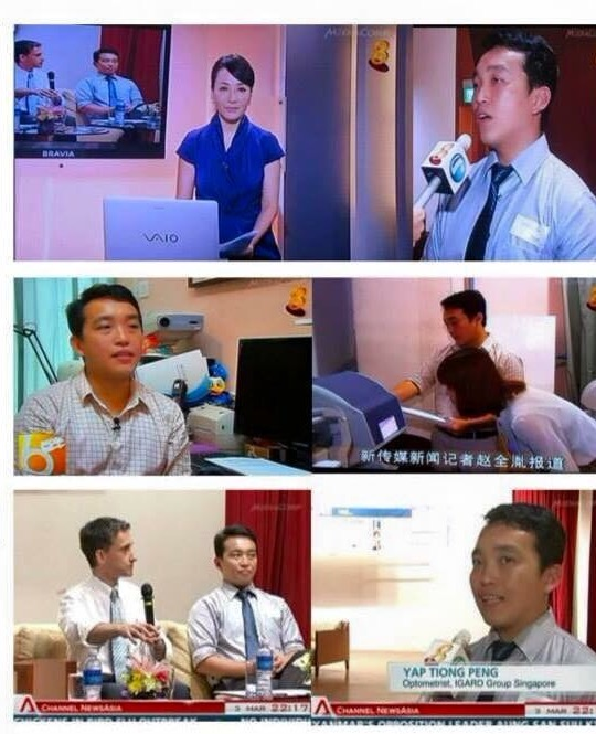 News interview by Mediacorp TV Channel 8 and Channel News Asia on Meares Irlen Syndrome (Visual Stress) and Dyslexia with Senior Consultant Optometrist Yap Tiong Peng (IGARD Group Singapore) and Professor Bruce Evans (City University London and U.K. Institute of Optometry).
